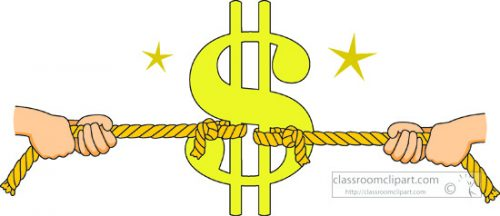 competing for consumers money clipart